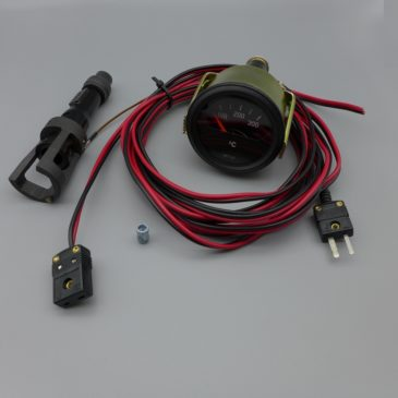 Zylinderkopf Temperaturanzeige analog matt schwarz – Set