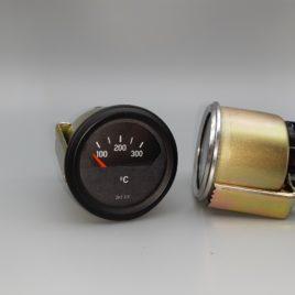 Zylinderkopf Temperaturanzeige analog matt schwarz – nur Anzeige